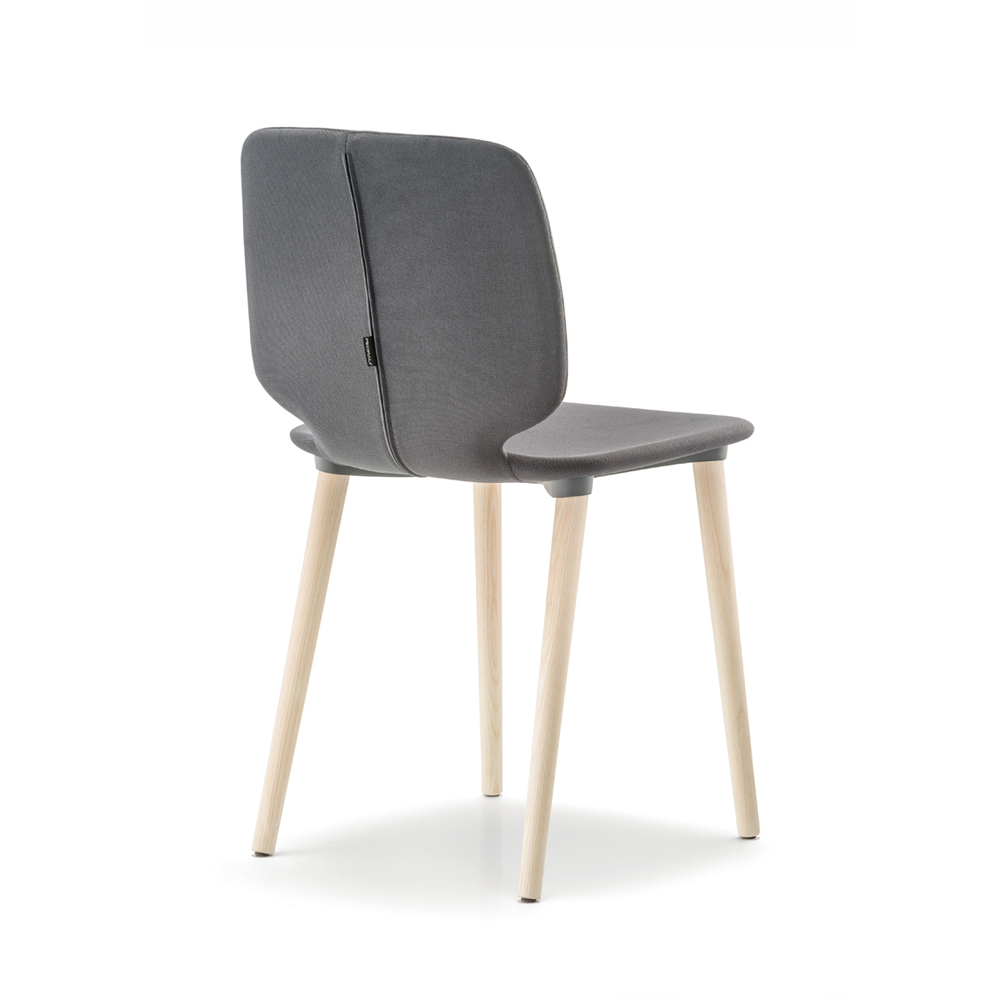 Nova Interiors Babila Wood Dining Chair 2751 with upholstery