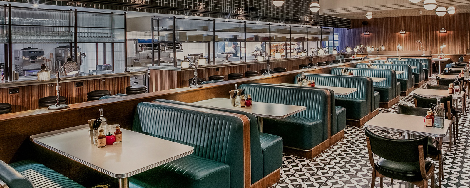 Nova Interiors Mollie's Motel & Diner Banquette Seating